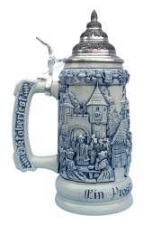 Oktoberfest Beer Stein with Pewter Lid
