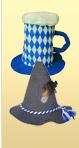 Two Felt Oktoberfest Party Hats