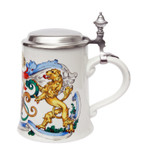 Bavaria Shield and Lion Porcelain Beer Stein