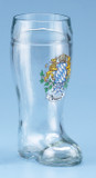 Bayern Crest Glass Beer Boot 1 Liter