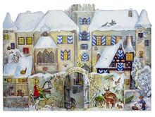 Traditional Wooden German Advent Calendar 3D Bavarian Knight
