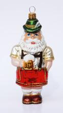 Glass Santa German Traditional Xmas Ornament