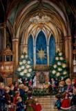 Christmas Eve Church Service German Advent Calendar