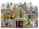 3-D Christmas Village German Advent Calendar