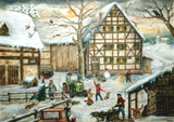 Farm in Winter German Advent Calendar