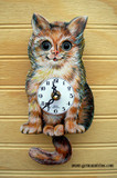 German Cat Mini Clock