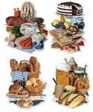 German Food Cutout 4pk
