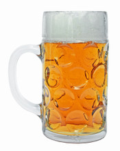 Oktoberfest Mass Krug Dimpled Mug 1L Right Side View