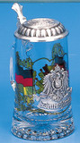 Deutschland Glass Beer Stein