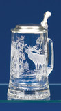 Elk Glass Beer Stein