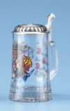 Firefighter Glass Beer Stein