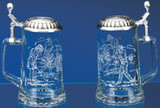Golfer Glass Beer Stein