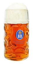 Glass Hofbrauhaus HB Beer Mug 1 Liter