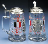 Italy Glass Beer Stein