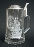 Nautical Glass Beer Stein