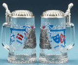 Scandinavia Glass Beer Stein