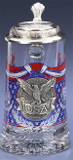 USA Glass Beer Stein