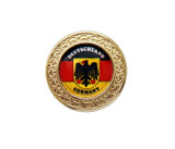 Gold Deutschland Eagle Medallion Hat Pin
