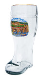 Authentic 1 Liter Beer Boot with Painting of Heidelberg Germany