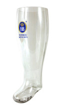 Traditional Hofbrauhaus HB German Glass Beer Boot 2 Liter