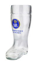Authentic .5 Liter Hofbrauhaus Glass Beer Boot