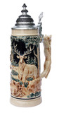 Hunter's Fox Handle Beer Stein Antique Style