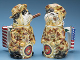 US Marines Bulldog Beer Stein