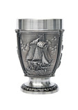 Nautical La Paloma Pewter Beer Cup