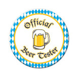 Official Beer Tester Party Button