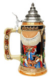 Oktoberfest Style Beer Stein with Holding Handle