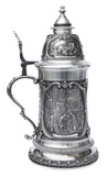 Painter Carl Spitzweg Pewter Beer Stein