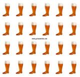 Plastic Beer Boot 24 pack 1 Liter