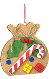 Santa's Toy Sack Wooden German Ornament