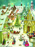 Town Square Sleigh Ride German Advent Calendar