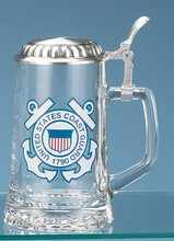 Authentic German Beer Stein with USCG Seal