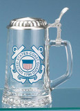 U.S. Coast Guard Glass Beer Stein