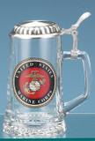U.S. Marine Corps Glass Beer Stein