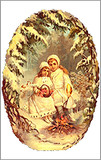 Victorian Children German Christmas Card