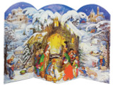 Winter Nativity Scene German Advent Calendar