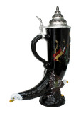 Deutschland Eagle Drinking Horn Beer Stein