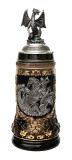 St. George Dragon Slayer Beer Stein with Dragon Lid