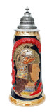 King Limitaet 2009 | Peter Duemler Minerva Handpainted Beer Stein