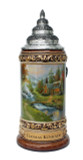 Thomas Kinkade Mountain Paradise Beer Stein