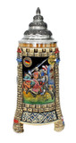 Medieval Tower Beer Stein with Pewter Lid