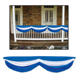 Bavarian Blue and White Fabric Bunting