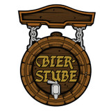 Beer Barrel Bier-Stube Sign Paper Cutout