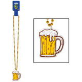 Beer Mug Party Bead Necklace