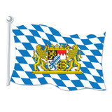 Bavarian Flag Paper Cutout Sign