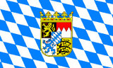 Bavaria Crest and Diamond Pattern Flag 3' x 5'