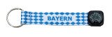 Bayern Compass Fabric Key Chain